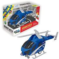 Vrtulník policejní na setrvačník, na baterie se světlem a zvukem