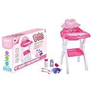 Židlička pro panenky, s přílušenstvím - Doplněk pro panenky