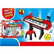 Piáno elektronické 37 kláves, se židličkou - Hudební hračka