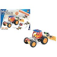 Little mechanic - tractor with accessories 4 in 1, 161 pcs - Building Kit