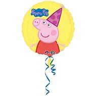 Balón foliový prasátko Peppa - Peppa pig - žlutý - 43 cm - Balonky
