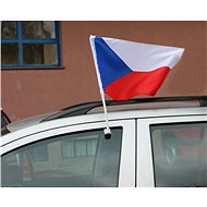 Flag of the Czech Republic on car windows, set of 2 pcs