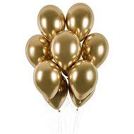 Balónky Chromované 50 ks zlaté lesklé - průměr 33 cm - Balonky
