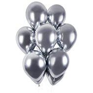 Balónky chromované 50 ks stříbrné lesklé - průměr 33 cm - Balonky