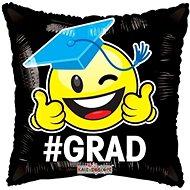 Balloon foil pillow - smiley - graduation - 45 cm