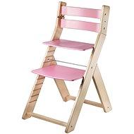 Rostoucí židle Wood Partner Sandy Barva: lak/růžová - Dětská židle