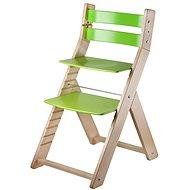 Rostoucí židle Wood Partner Sandy Barva: lak/zelená - Dětská židle
