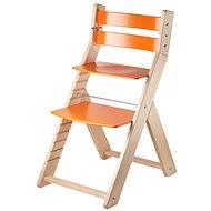 Rostoucí židle Wood Partner Sandy Barva: lak/oranžová - Rostoucí židle