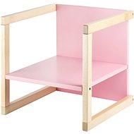 Wood Partner Dětská židle WENDY 3v1 Barva: lak/růžová - Rostoucí židle