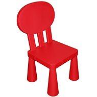 Dětská plastová židlička - červená
