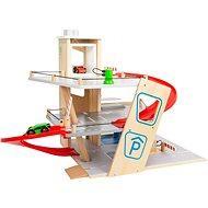Small Foot Prémiové 7 dílné  parkoviště - Dřevěná hračka