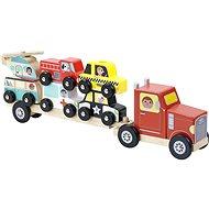 Vilac Dřevěný kamión s autíčky na nasazování - Dřevěná hračka