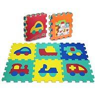 Puzzle pěnové 6 ks - dopravní prostředky