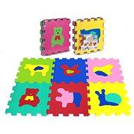 Puzzle pěnové 6 ks - zvířátka  - Pěnové puzzle