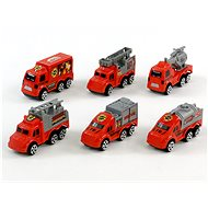 Sada hasičských autíček na kartě - Sada autíček