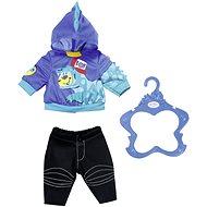 Starší bratříček BABY born Oblečení - modrá mikina - Doplněk pro panenky