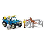 Schleich 41464 Terénní vůz s venkovním výběhem pro dinosaura - Figurka