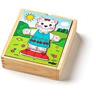 """Woody Puzzle šatní skříň """"Kočička"""", 18 dílů"""
