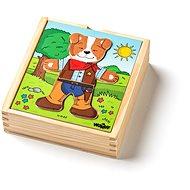 """Woody Puzzle šatní skříň """"Pejsek"""", 18 dílů - Puzzle"""