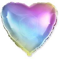 Balónek foliový 45cm srdce duhový - Balonky