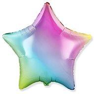 Balónek foliový 45 cm hvězda duhová - Balonky