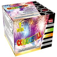 Fireworks - battery of colourfull projectiles 25 rounds - Fireworks
