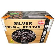 Fireworks - battery of silver palm w. red tail 50ran - Fireworks