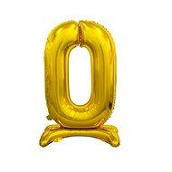 Balón foliový číslice zlatá  na podstavci , 74 cm - 0 - Balonky
