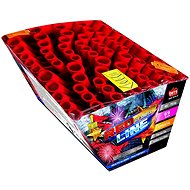 Fireworks - batteries of projectiles red line 69 shots - Fireworks