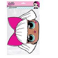Papírová maska - LOL diva - Doplněk ke kostýmu