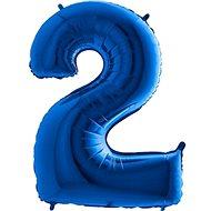 Balón foliový číslice modrá -  110 cm - 2 - Balonky