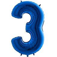 Balón foliový číslice modrá -  110 cm - 3 - Balonky