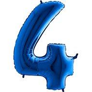 Balón foliový číslice modrá -  110 cm - 4 - Balonky