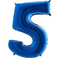 Balón foliový číslice modrá -  110 cm - 5 - Balonky