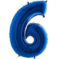 Balón foliový číslice modrá -  110 cm - 6 - Balonky