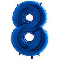 Balón foliový číslice modrá -  110 cm - 8 - Balonky