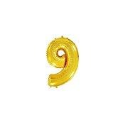 Balón foliový číslice zlatá -  110 cm - 9 - Balonky