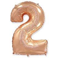Balón foliový číslice růžovo zlatá -  110 cm - 2 - Balonky