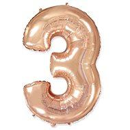 Balón foliový číslice růžovo zlatá -  110 cm - 3 - Balonky