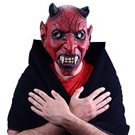 Devil mask with ears - halloween, christmas - 26 x 32 cm