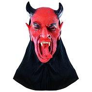 Maska čert s jazykem - halloween - vánoce - 29 x 24 cm - Doplněk ke kostýmu