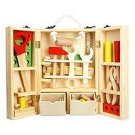 Nářadí dřevo 30ks v dřevěném kufříku - Dětské nářadí