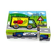 Teddies Cubes cubes wooden My first cars 12pcs