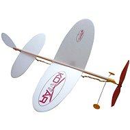 Letadlo Komár házecí model na gumu - Model