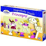 Didaktická hračka Magnetické puzzle Princezny