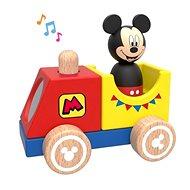 Derrson Disney Dřevěný vláček s Mickeym - Dřevěná hračka