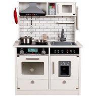 Derrson XL dřevěná kuchyňka se světly a zvuky bílá  - Kuchyňka