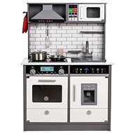 Derrson XL wooden kitchen with lights and sounds in gray