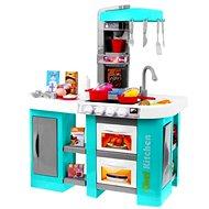 iMex Toys Velká dětská kuchyňka s tekoucí vodou a lednicí tyrkysová - Kuchyňka