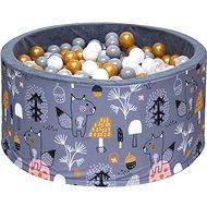 iMex 3454 Suchý bazén s míčky Mystery forest Gold - Stan